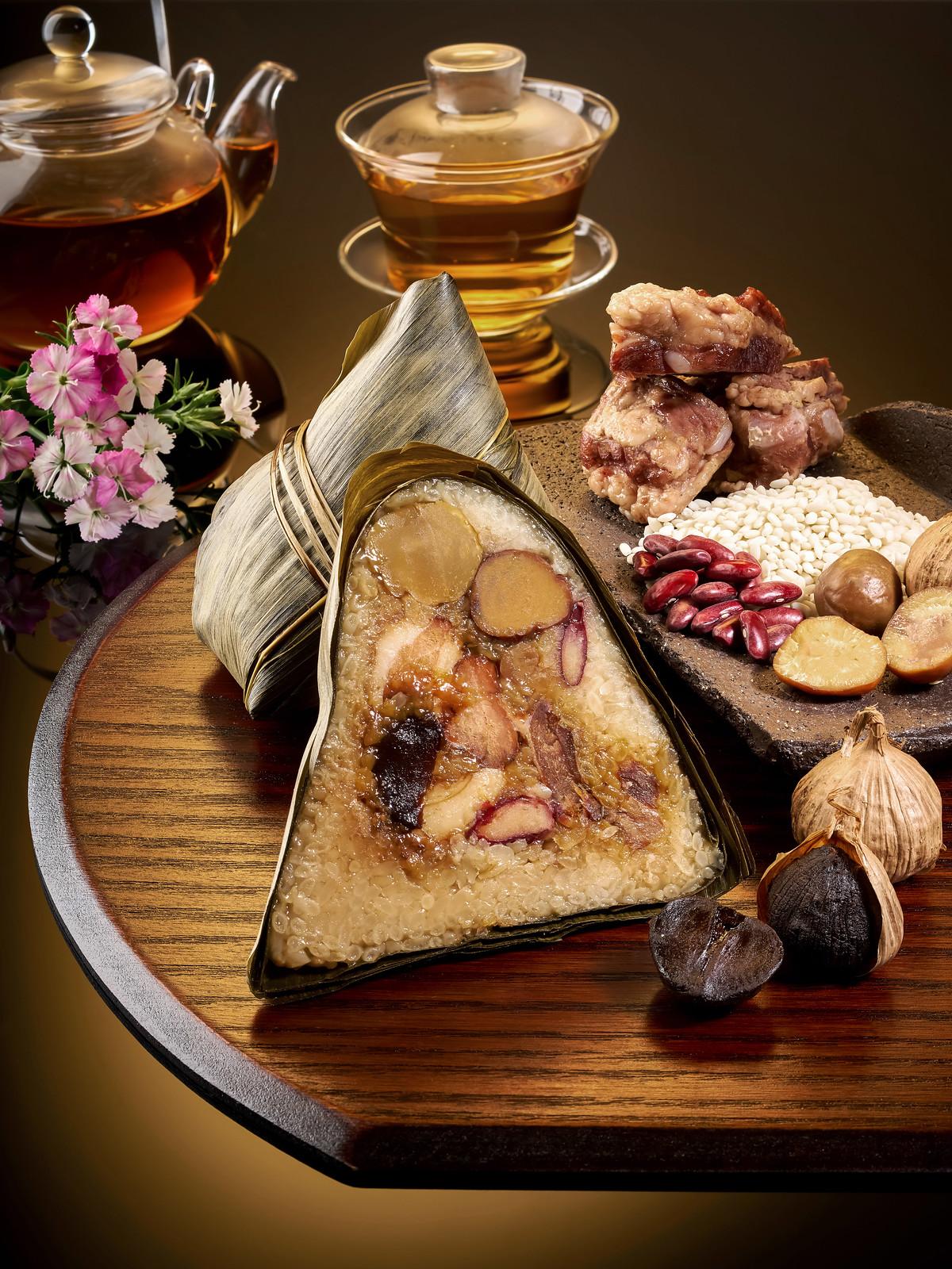 Wan Hao Chinese Restaurant_Kurobuta Pork, Chestnut, Black Garlic Rice Dumpling
