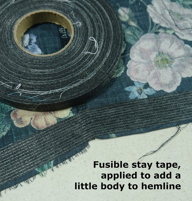 Hem 3 - Stay tape to stabilise hem