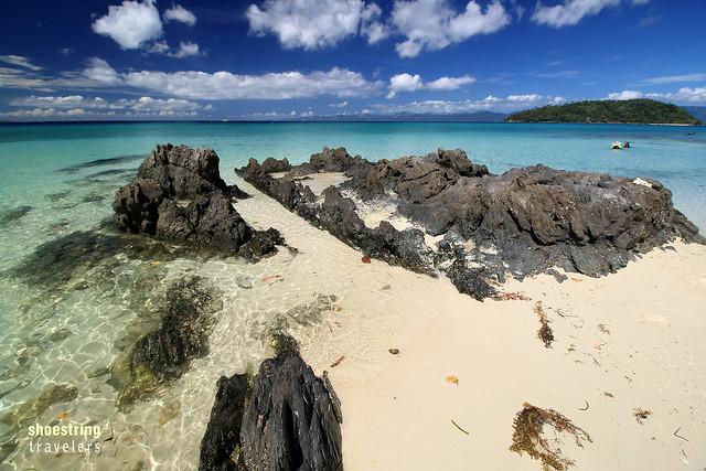 rock formations at Tiamban Beach