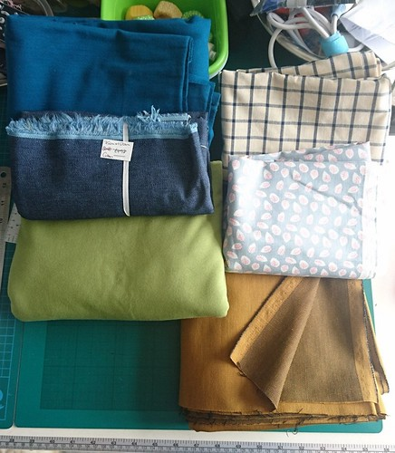 Fabrics bought from 'Ditto Fabrics' shop - 29th April 2017
