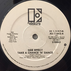 SIDE EFFECT:TAKE A CHANCE 'N' DANCE(LABEL SIDE-A)