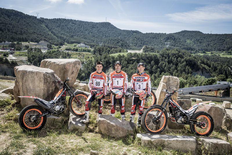 Repsol Honda Trial Team, galería de fotos previa Mundial 2017