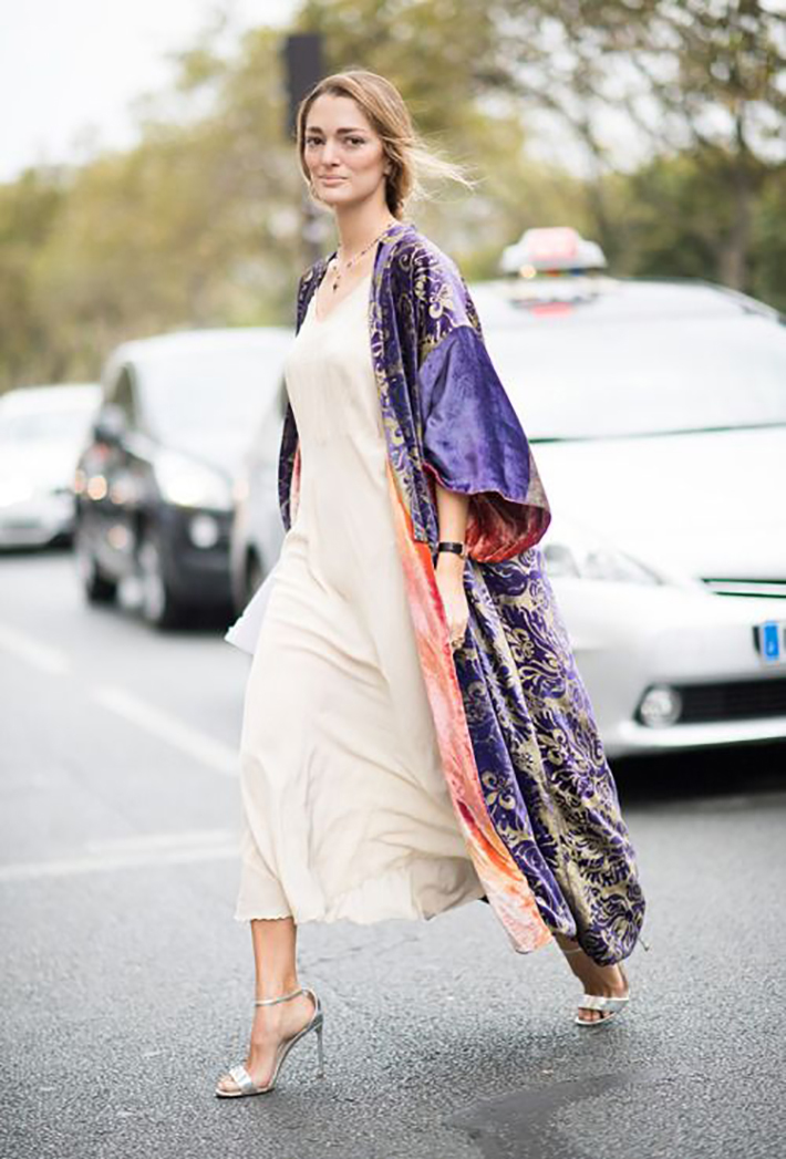 kimono street style spring 2017 outfits inspiration accessories fashion trend style5