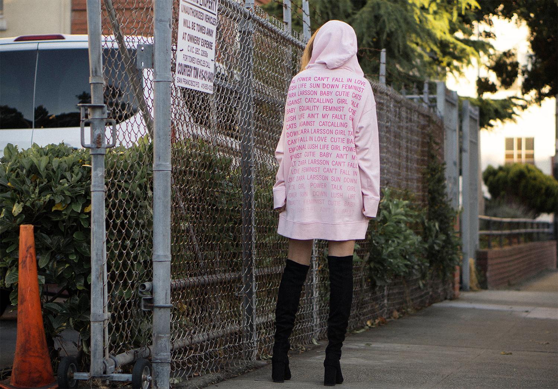 79_0zara larsson & hm oversized hoodie6