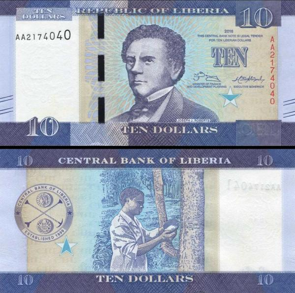 10 Dolárov Libéria 2016, P32