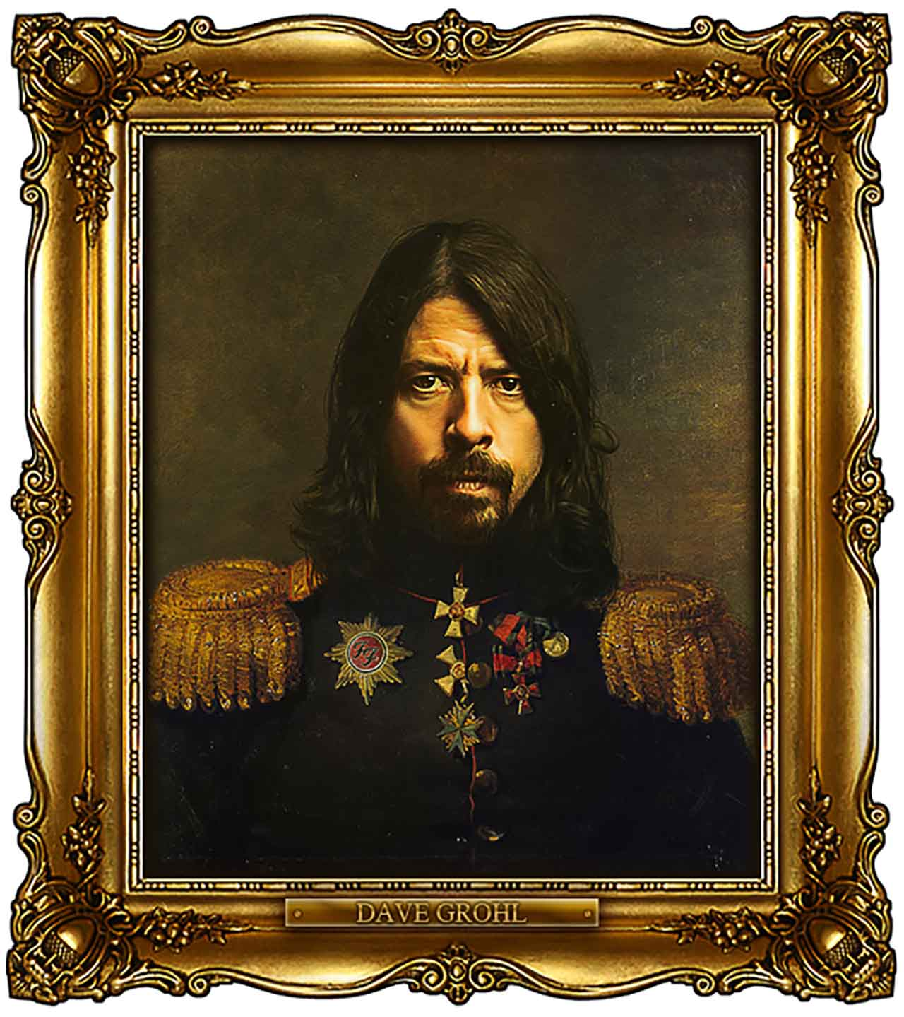 Artist Turns Famous Actors Into Russian Generals - Dave Grohl