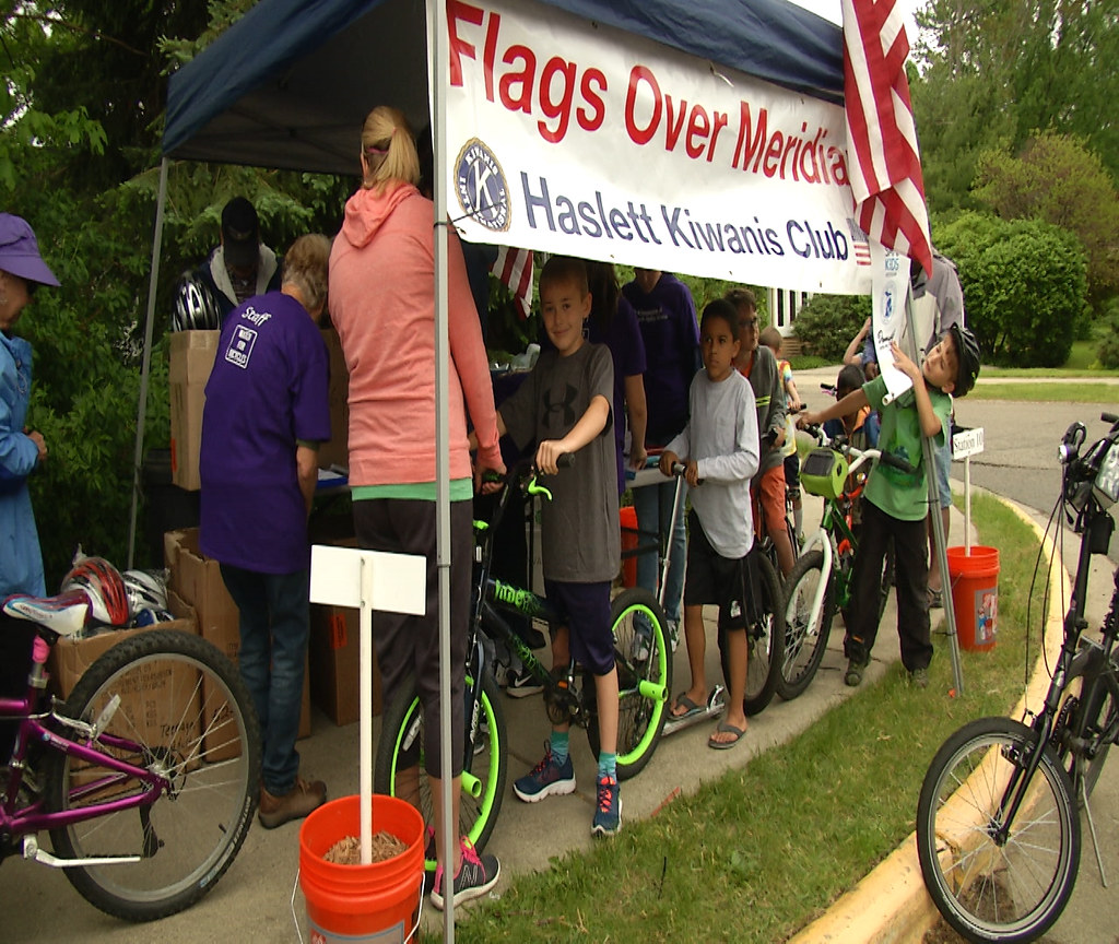 Meridian Township Youth Learns Bicycle Safety