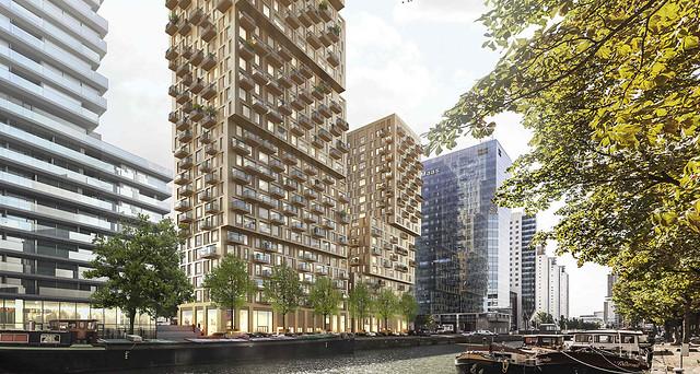 Boompjes 60 68 nieuwe woontorens nieuwbouw architectuur for Nieuwbouw rotterdam huur