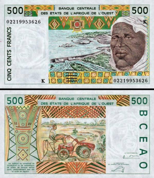 500 Frankov Senegal (Západoafrické štáty) 2002, P710K UNC