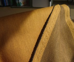 Gold Stretch Twill Weave fabric