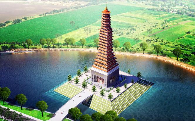 Phối cảnh dự kiến tháp Thái Bình