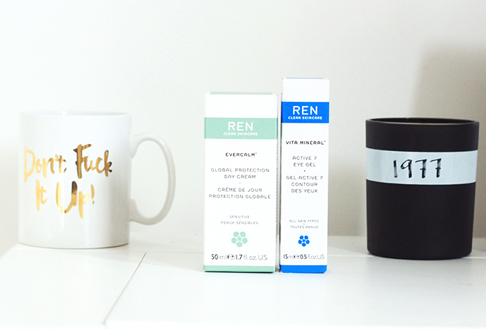 REN GLOBAL PROTECTION DAY CREAM REVIEW | REN VITA MINERAL ACTIVE 7 EYE GEL REVIEW