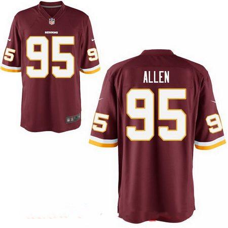 ... Men s 2017 NFL Draft Washington Redskins  95 Jonathan Allen Burgundy  Red Team Color Stitched NFL f412fdb36