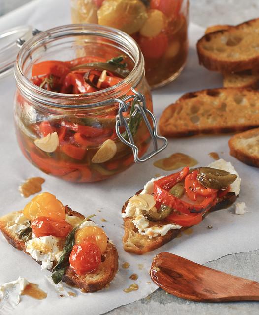 Marinated Basil Garlic Peppers