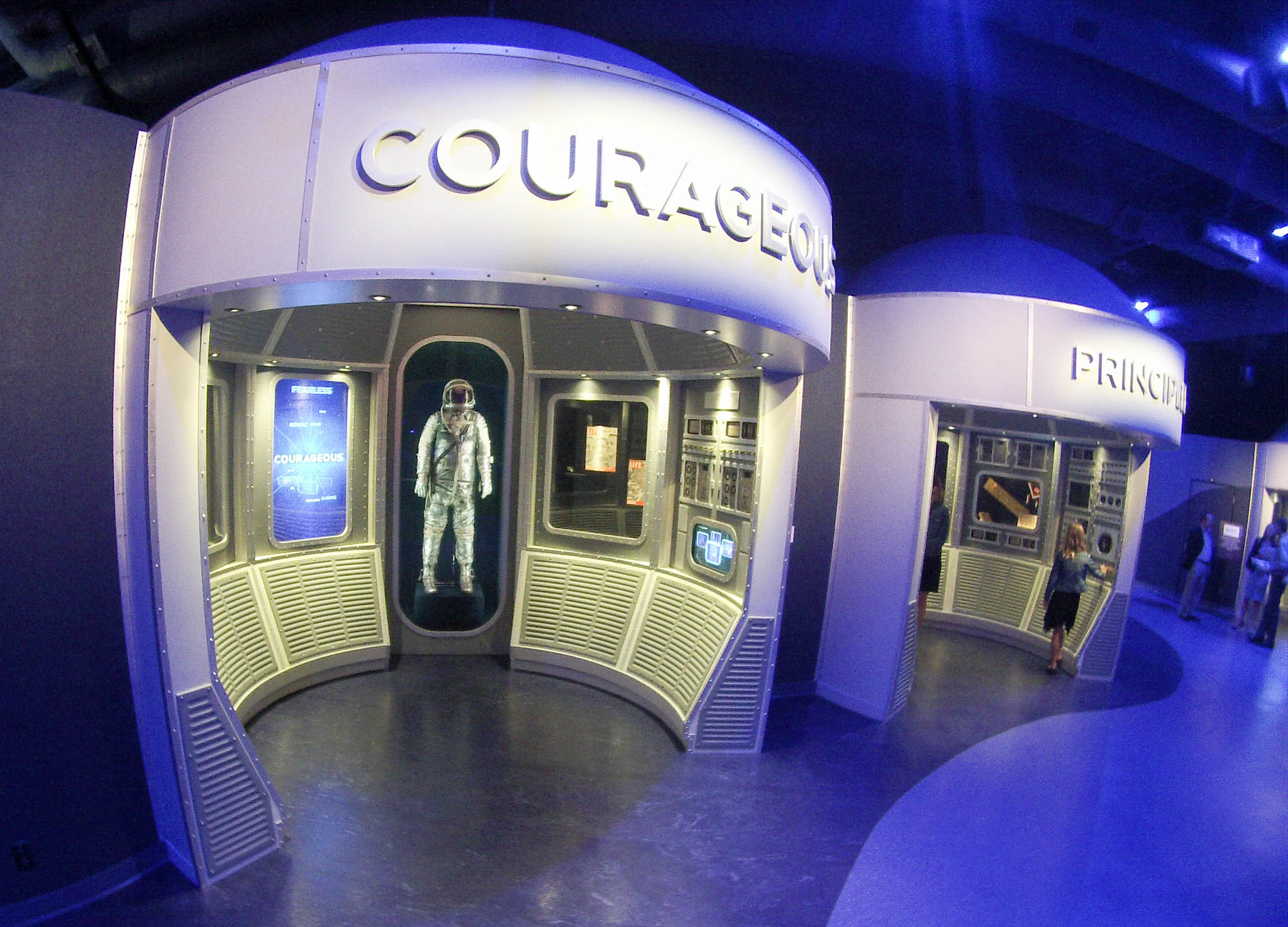 Courage and Principles are Some of the Attributes Astronauts Must Have. Press Event for Heroes and Legends at the Kennedy Space Center Visitor Complex, Nov. 10, 2016