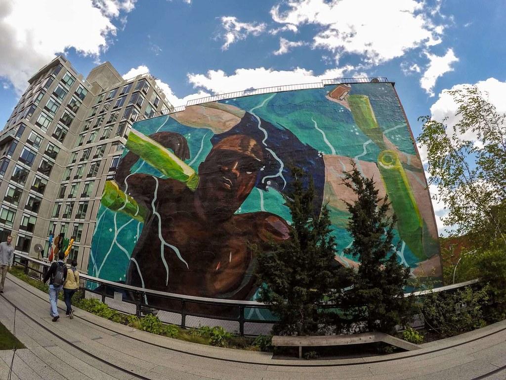 High Line Park street art May 2017