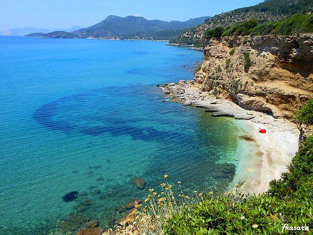 Bay near the eastern Psili Ammos, Samos