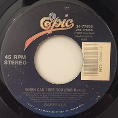 BABYFACE:WHEN CAN I SEE YOU(LABEL SIDE-B)
