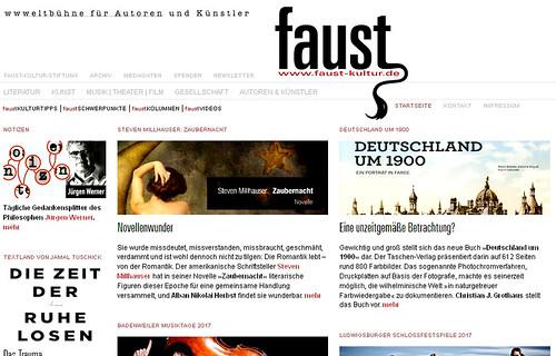 Novellenwunder Faust (Mai 2017)