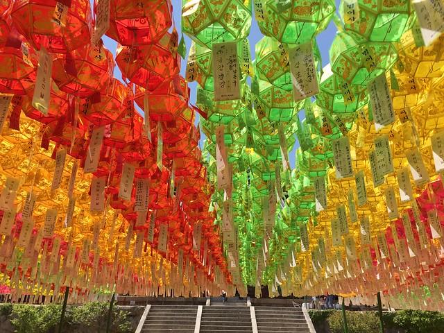Lanterns in Beomeosa Temple