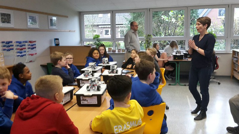 St Nicholas Primary School pupils receive training with partner pupils in Germany on their Erasmus+ project