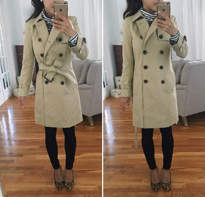 jcrew icon trench coat petites review