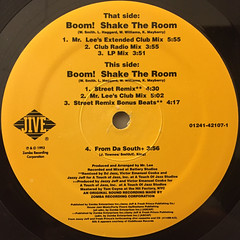 JAZZY JEFF & FRESH PRINCE:BOOM! SHAKE THE ROOM(LABEL SIDE-B)