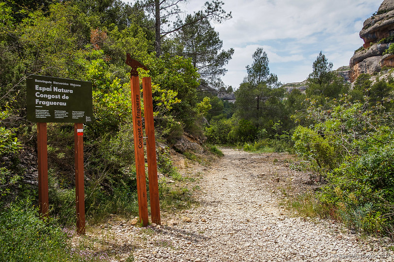 Entrada o salida al Espai Natural del Congost de Fraguerau