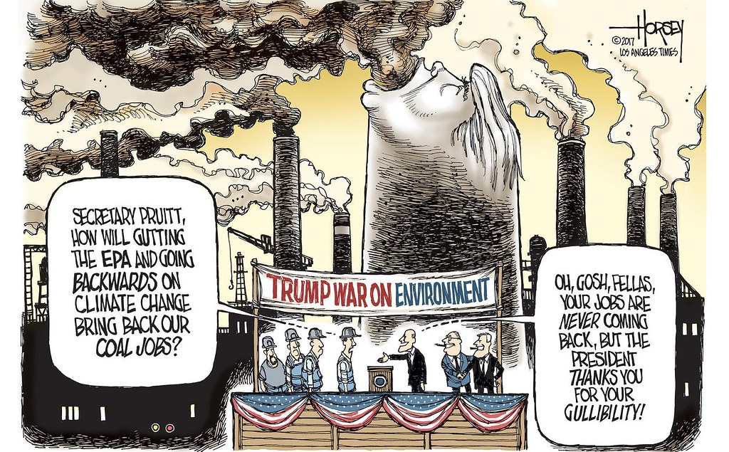Trump war on env-by Los Angeles Times. 圖片來源:Los Angeles Times。