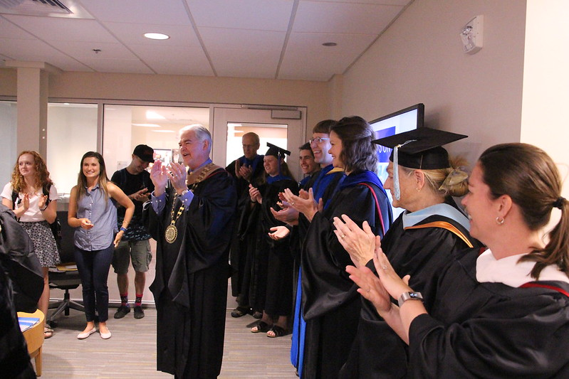 Faculty, Staff Celebrate Graduate Who Will Miss Commencement
