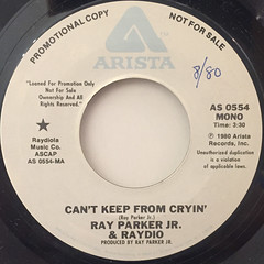 RAY PARKER JR. & RAYDIO:CAN'T KEEP FROM CRYIN'(LABEL SIDE-A)