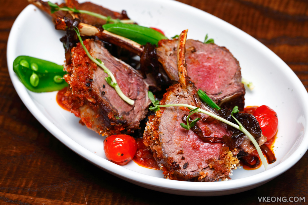 Rack of Sambal Crusted Lamb Loins