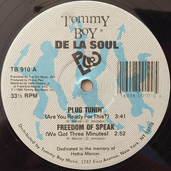 DE LA SOUL:PLUG TUNIN'(LABEL SIDE-A)