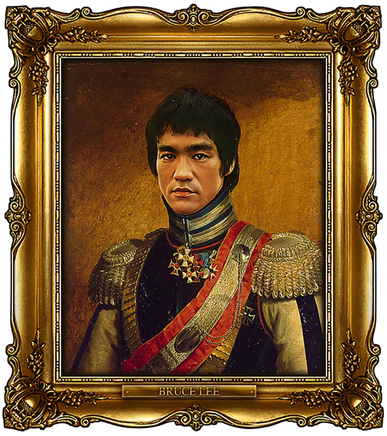 Artist Turns Famous Actors Into Russian Generals - Bruce Lee
