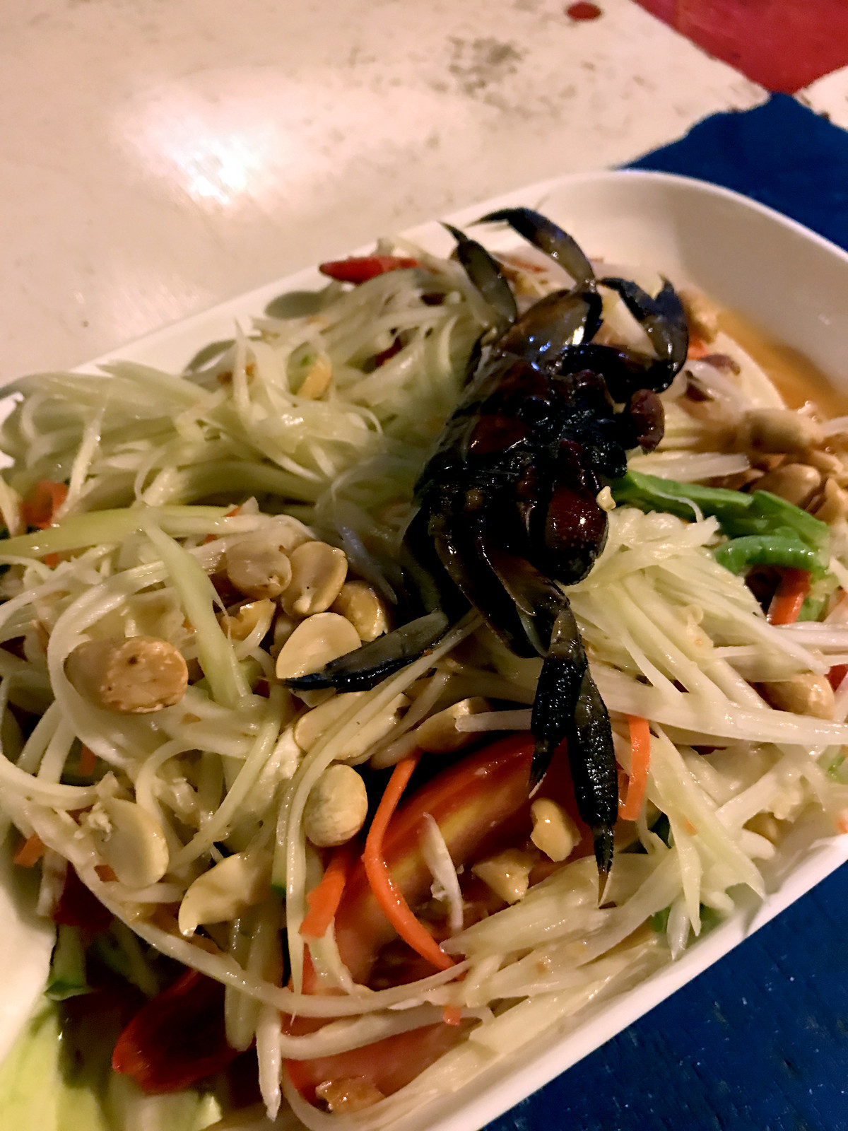 papaya salad with fermented crab