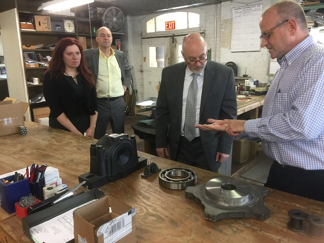Mayor Madden visit to Bearing Distributors
