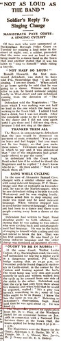 Buckingham advertiser 10Jan1942 Walter Casbon fined