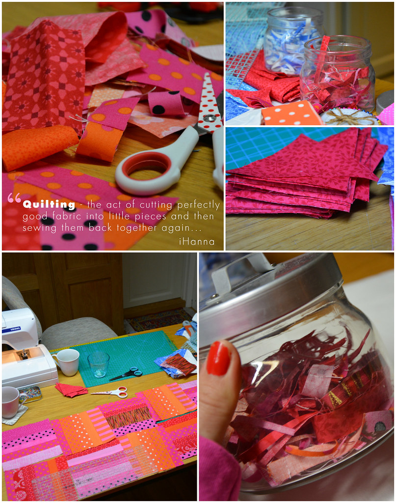 Quilting - the act of