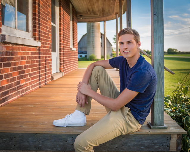 Portrait, Senior Portrait, Rural, Porch