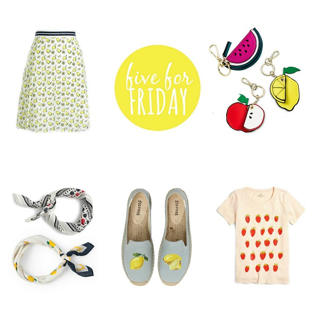 five for friday summer 2017 fruit prints | Style On Target blog