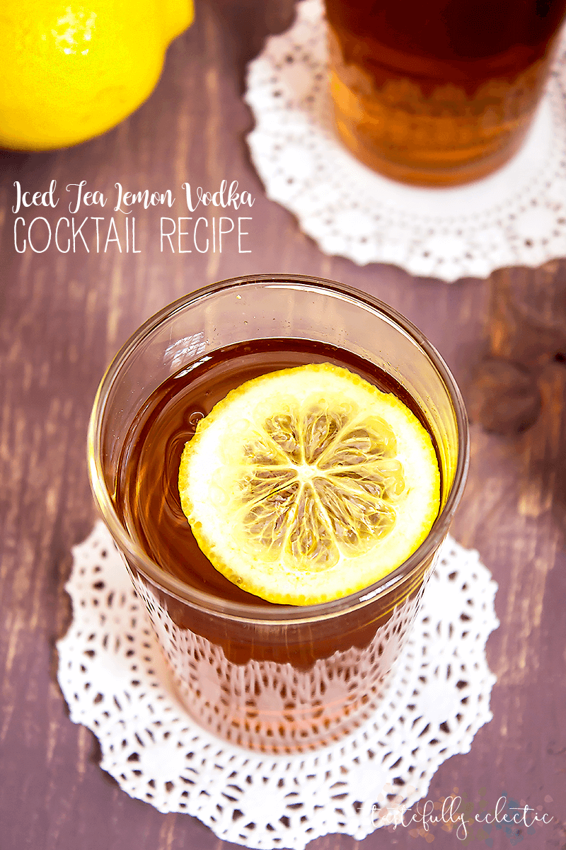 Iced Tea Lemon Vodka Cocktail Recipe