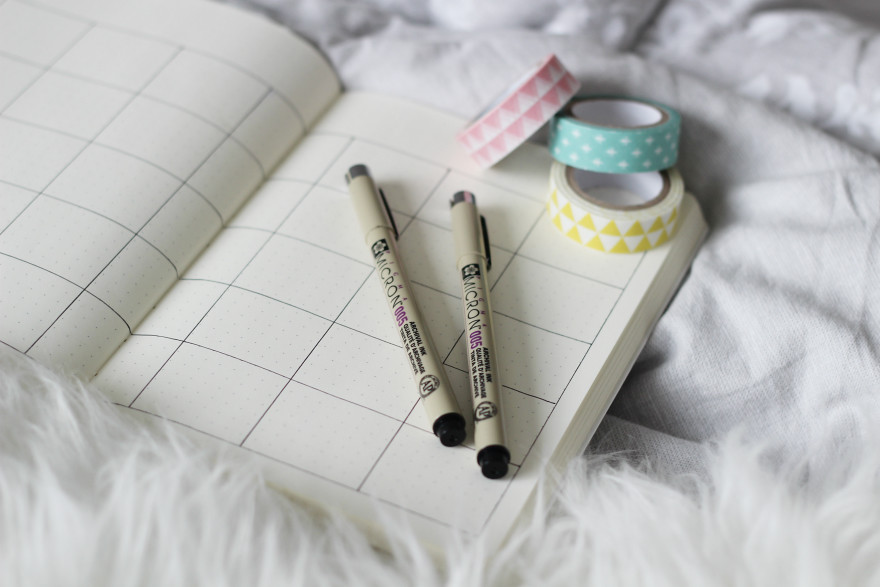 monthly pages bullet journal