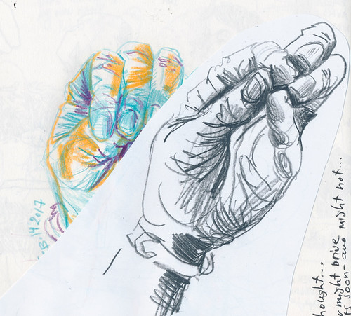 Sketchbook #103: When in doubt - draw hands :)