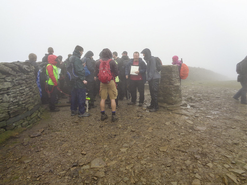 The Pen-y-ghent trig point, and some rubbish weather