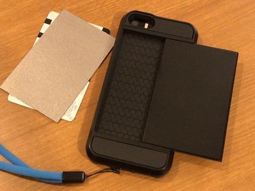 iPhone カバー、カードケース付き