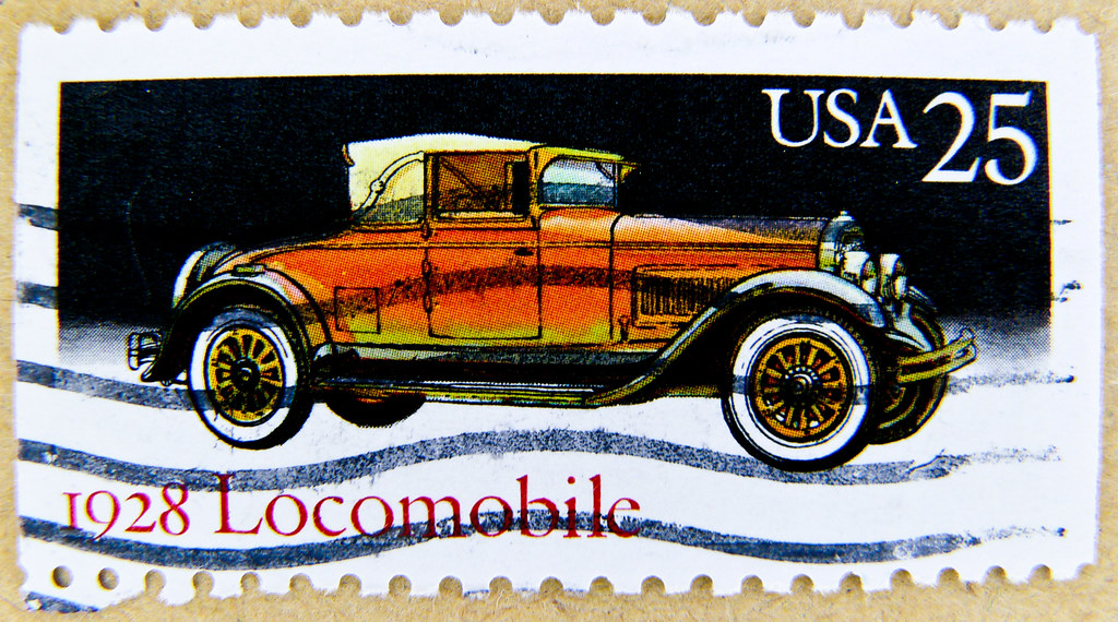 Great Stamp USA 25c Locomobile 1928 Auto Car Auto Macch Flickr