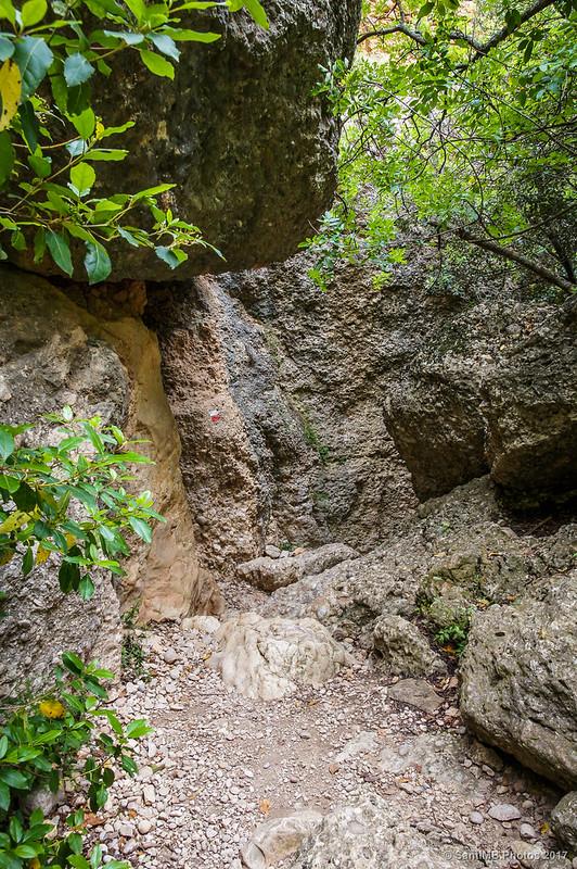 Paso estrecho en Sant Bartomeu de Fraguerau
