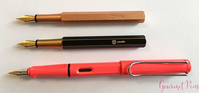 Review YStudio The Weight of Words Portable Fountain Pen - Brassing & Classic @AppelboomLaren 20
