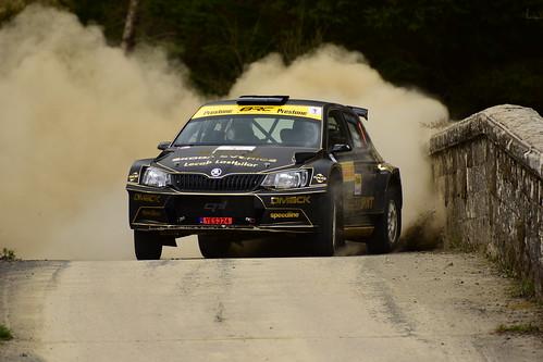 Fredrik Ahlin - Torstein Eriksen, Škoda Fabia R5, MSA British Rally Championship, Carlisle 2017