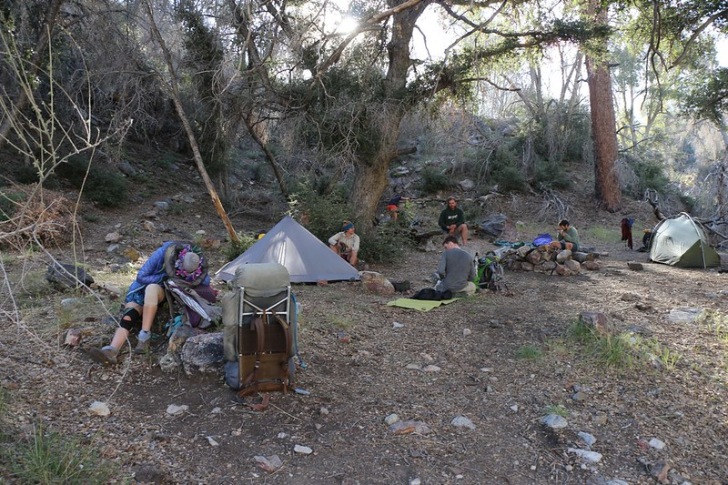PCT camp WRCS0235 was already full with a group of young PCT Through-Hikers